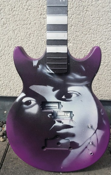 Paul McCartney Face on a Bass by Ray Mullan